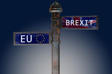 Brexit EU Signs on a pole