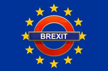 Brexit Tube Sign - positive impact on UK property